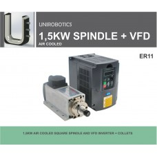 1,5KW AIR COOLED SPINDLE AND VFD INVERTER