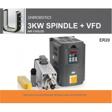 3KW AIR COOLED SPINDLE AND INVERTER (CERAMIC BEARINGS)