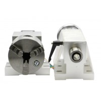 HIGH PRECISION Rotary Axis for 4th-Axis Chuck / Tailstock 100mm FOR CNC MILLING