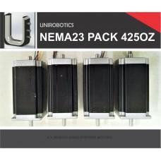 4 X NEMA23 425oz Stepper Motors
