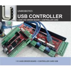 5 Axis Stepper Motor Driver + Controller Board