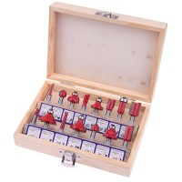Router Bit Set for Wood (15 piece) 6mm
